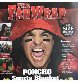 NON-UNIFORM JD FanWrap Poncho Sports Blanket, weather resistant, Navy