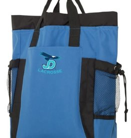 NON-UNIFORM JD Lacrosse embroidered on royal blue liberty Bags - New York Backpack Tote