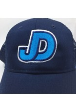 NON-UNIFORM JD mesh hat with adj back JD embr. with teal and white