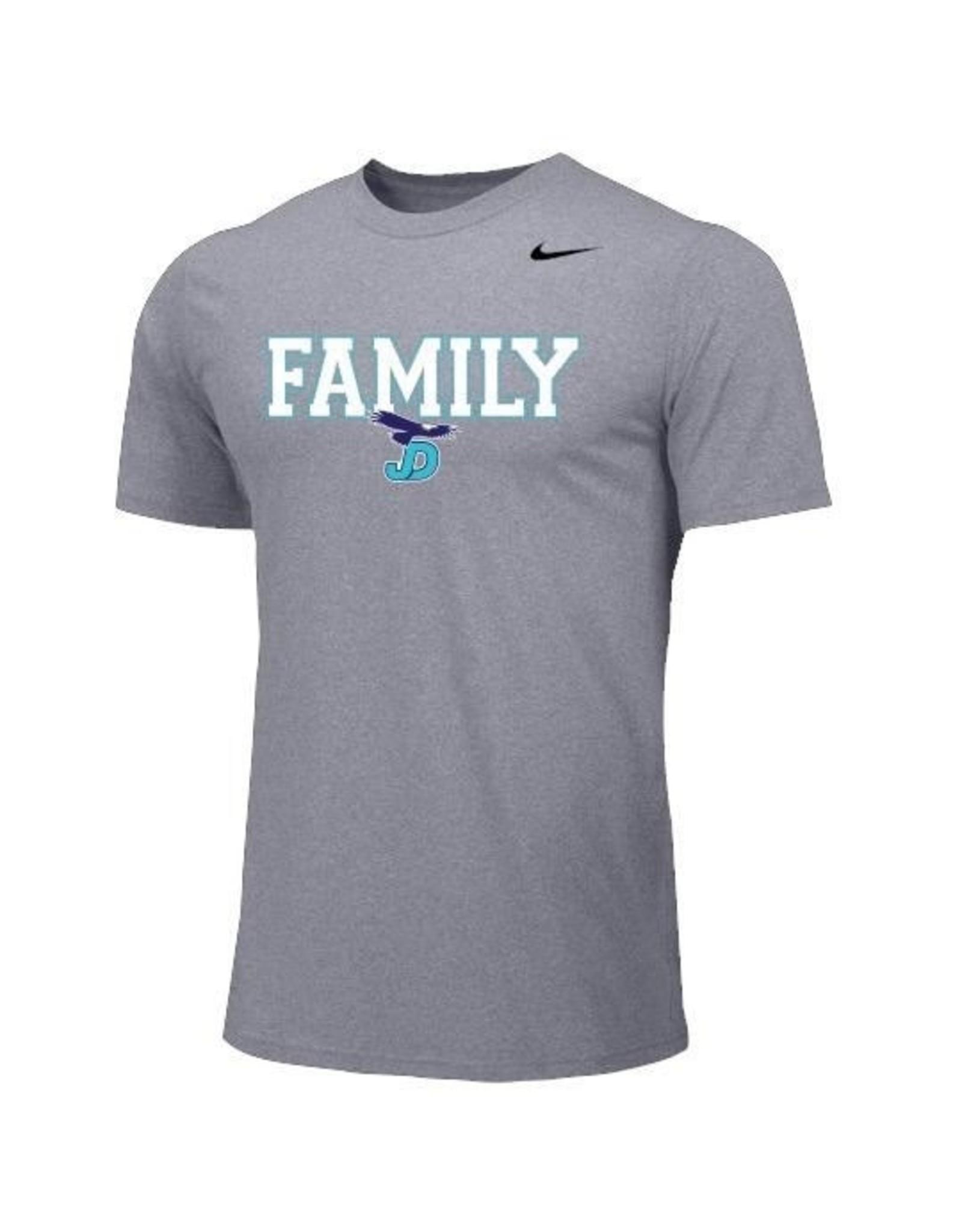 NON-UNIFORM JD NIke 'Family' Tee w/JD logo custom add sport