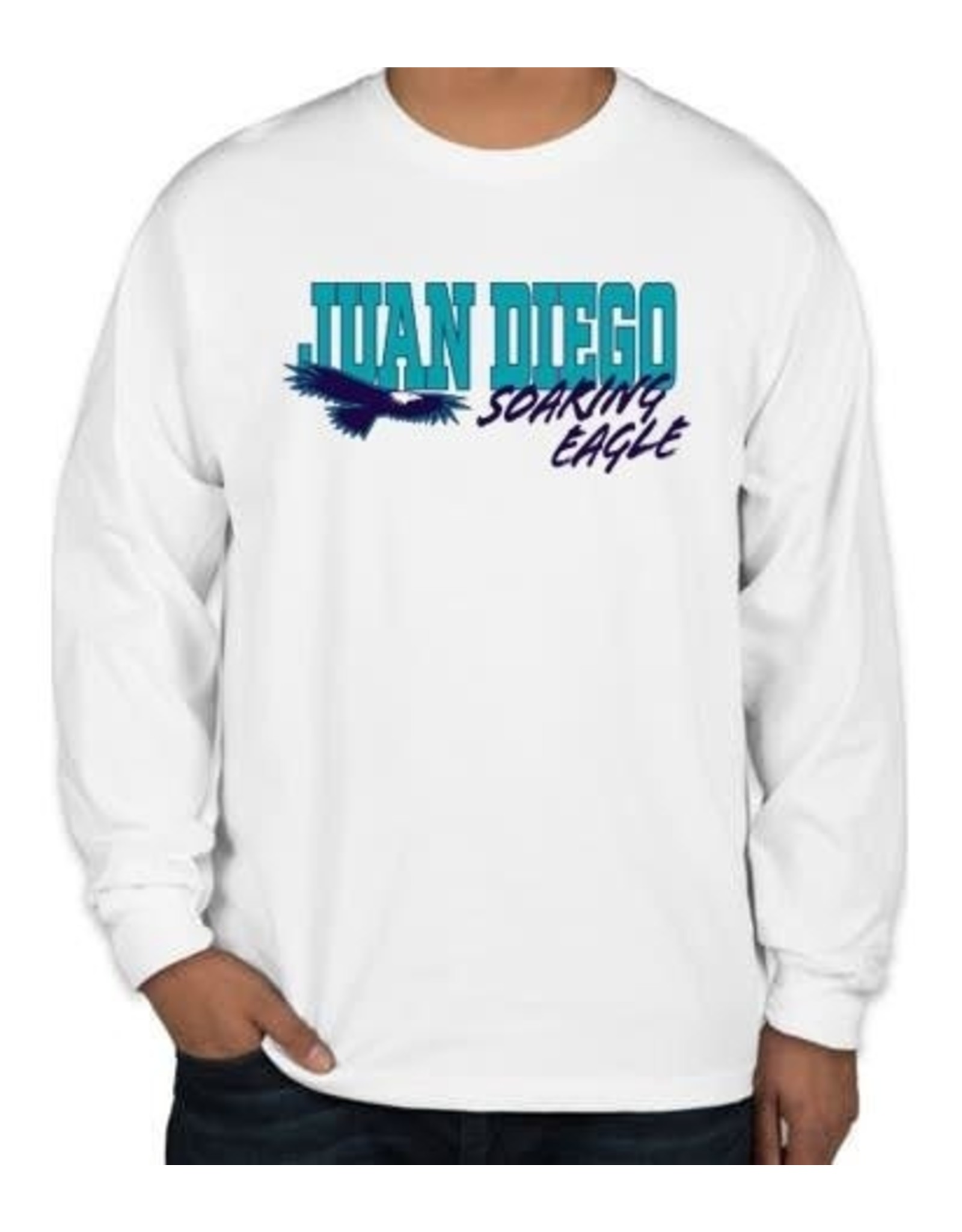 NON-UNIFORM JD Soaring Eagle Spirit - Nike Legend Long Sleeve White Shirt, Unisex
