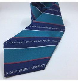 """UNIFORM JD Spiritus Donorum 59"""" Four In Hand Neck Tie Navy/Teal, no returns"""