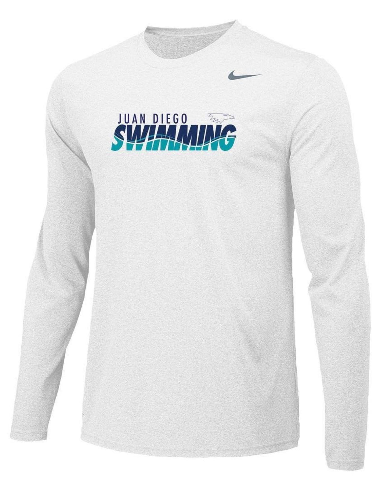 NON-UNIFORM JD Swim Team Long Sleeve Nike Tee   27980