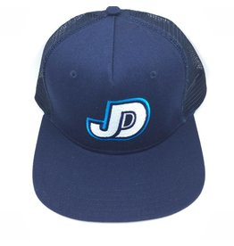 NON-UNIFORM JDS navy hat flat bill with mesh and adj back JD logo embro on front