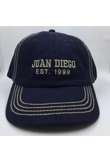 NON-UNIFORM Juan Diego hat navy with khaki embroidery est. 1999;adj back
