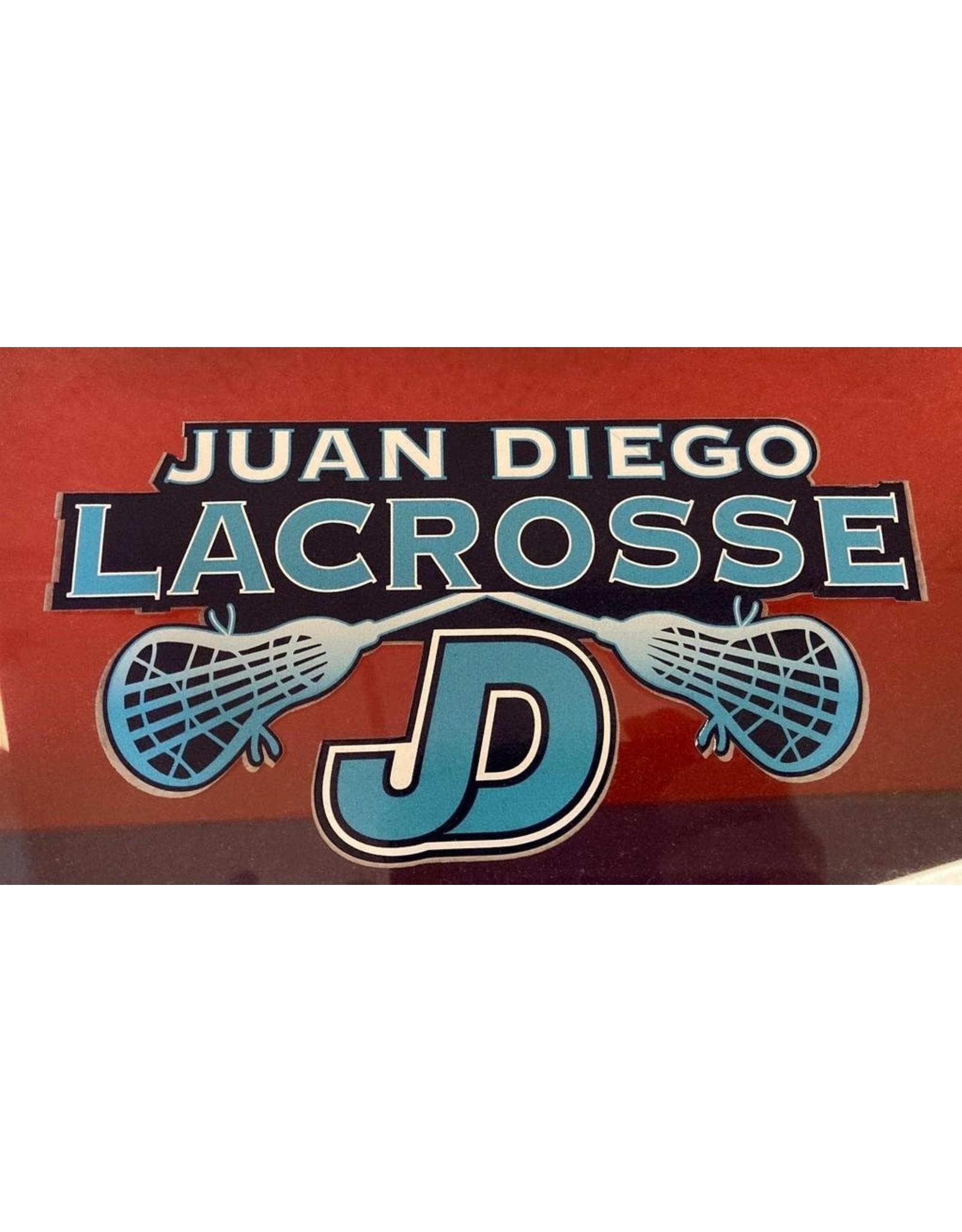 NON-UNIFORM Lacrosse - JD Lacrosse Decal, navy/white/turquoise