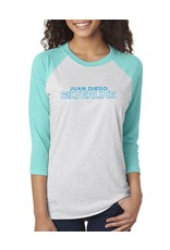 NON-UNIFORM Light teal/white jersey tee w/silverline logo on front.