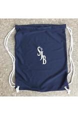 NON-UNIFORM Navy Cinch Bag with basketball logo