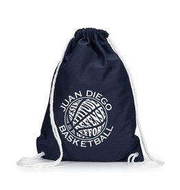 NON-UNIFORM Navy Cinch Bag with basketball logo