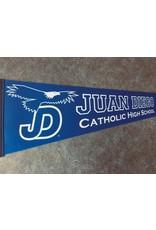 NON-UNIFORM Pennant Flag - Juan Diego Catholic High School, Navy,  (12 x 30)