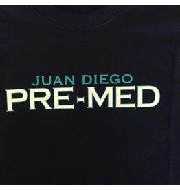 NON-UNIFORM Pre-Med, Juan Diego Pre-Med Custom Order Navy Unisex s/s t-shirt