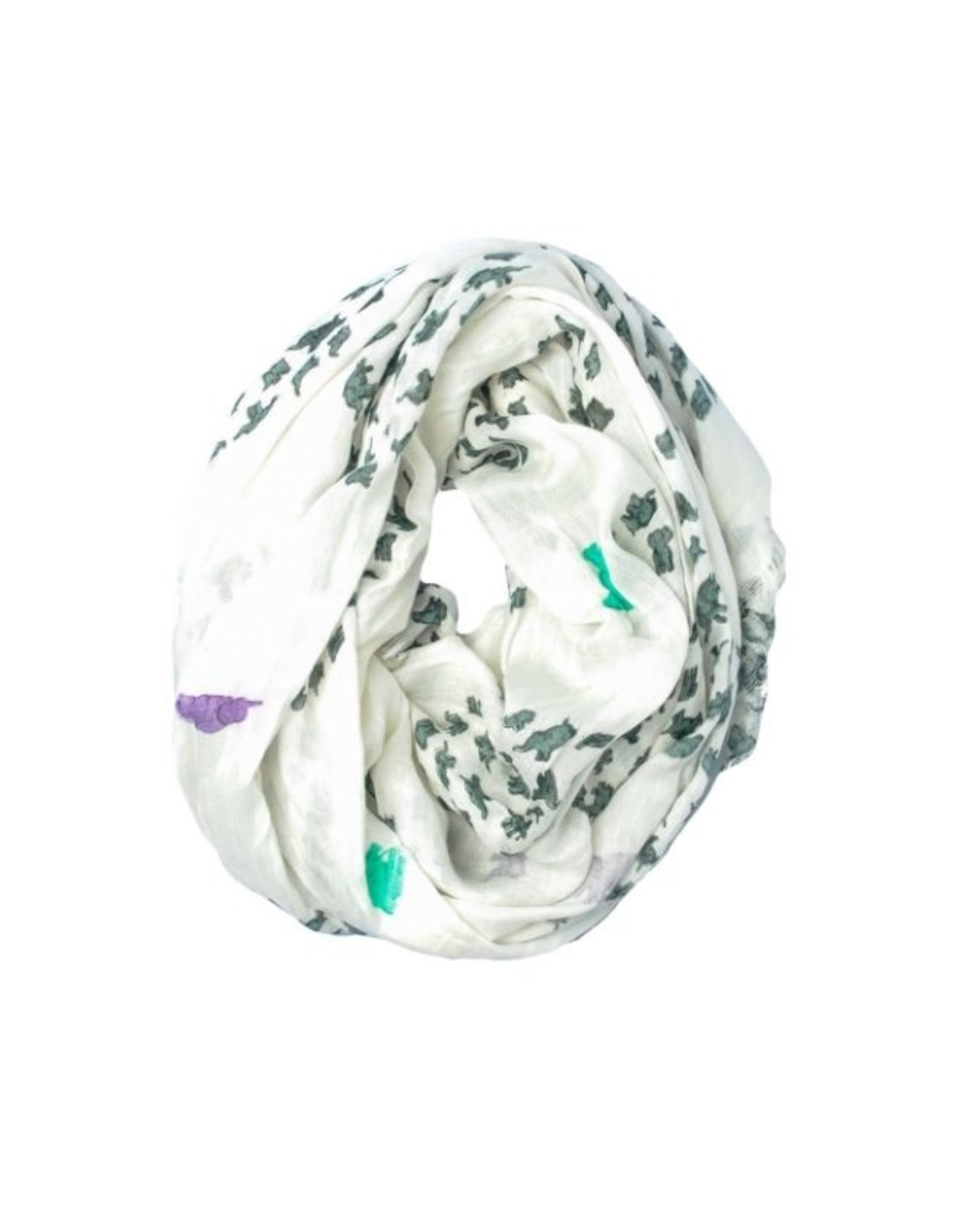 NON-UNIFORM Scarf - Chic Elephant Summer Scarf Scarf (India), Fair Trade Product