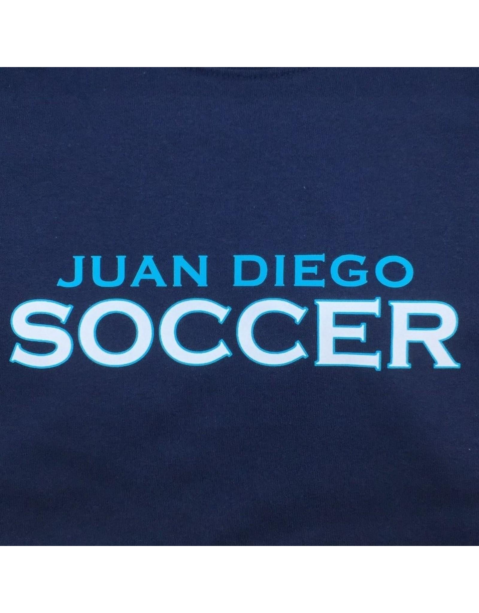 NON-UNIFORM Soccer, Juan Diego Soccer Custom Order Navy Unisex s/s t-shirt