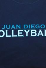 NON-UNIFORM Volleyball, Juan Diego Volleyball Custom Order Navy Unisex s/s t-shirt
