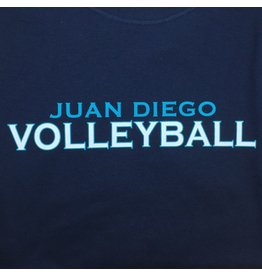 NON-UNIFORM Volleyball, Juan Diego Volleyball Custom Order Navy Unisex s/s t-shirt