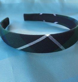 UNIFORM Wide Hard Headband, SJB, Plaid