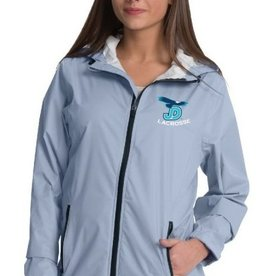 NON-UNIFORM Women's Grey JD Lacrosse Rain Jacket with embroidered logo