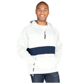 NON-UNIFORM JD Striped Pullover 1/4 Zip Jacket - Hooded