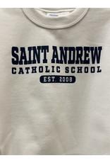 UNIFORM Saint Andrew Crew Neck Sweatshirt, White