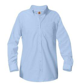 UNIFORM Girls Oxford Long Sleeve - Blue