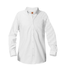 UNIFORM Girls Oxford Long Sleeve, White