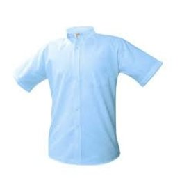 UNIFORM Boys Oxford Short Sleeve - Blue