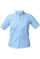 UNIFORM Girls Oxford Short Sleeve, Blue