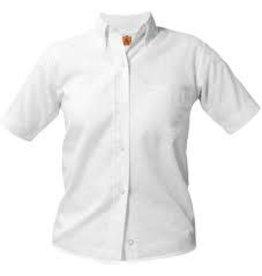UNIFORM Girls Oxford Short Sleeve, White