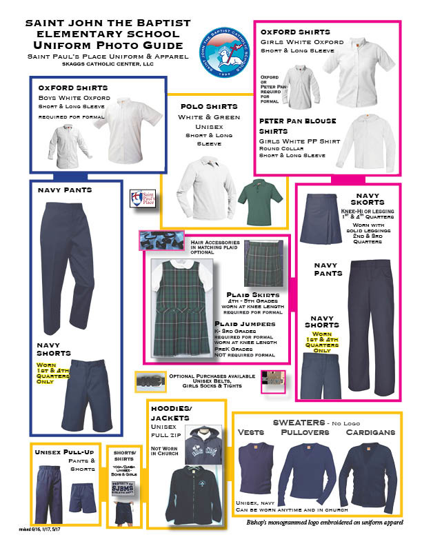 Saint John the Baptist Elementary Uniform Guidelines