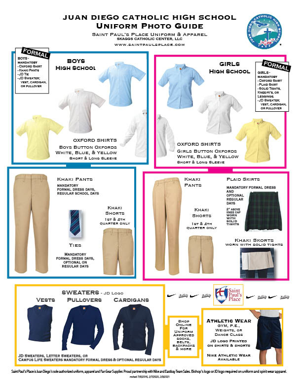 Juan Diego Catholic High School Uniform Guidelines