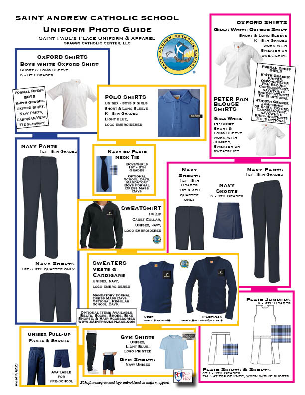 Saint Andrew Catholic School Uniform Guidelines