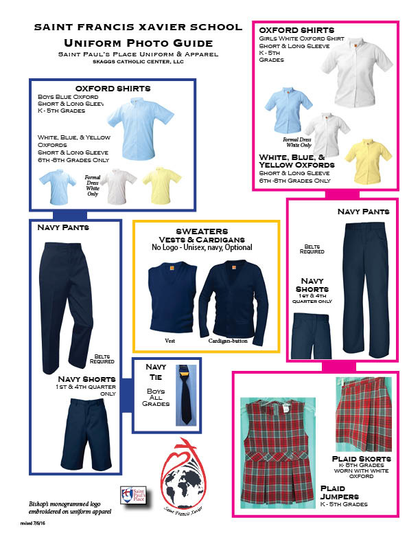 Saint Francis Catholic School Uniform Guidelines