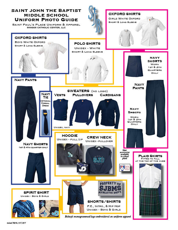 Saint John the Baptist Middle School Uniform Guidelines