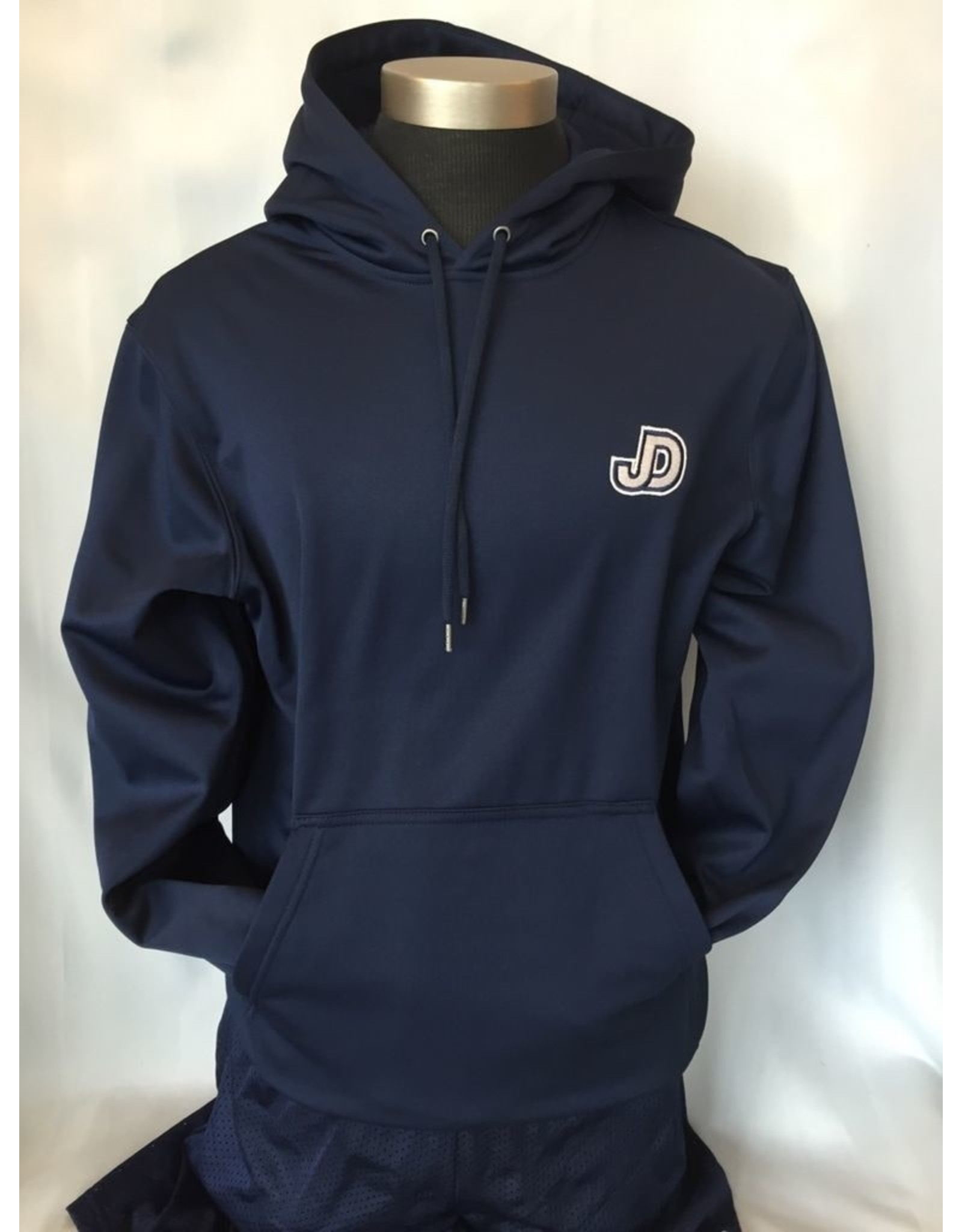 NON-UNIFORM Sweatshirt - Hooded Pullover, JD/eagle tackle twill applique center back, JD embry. left chest front