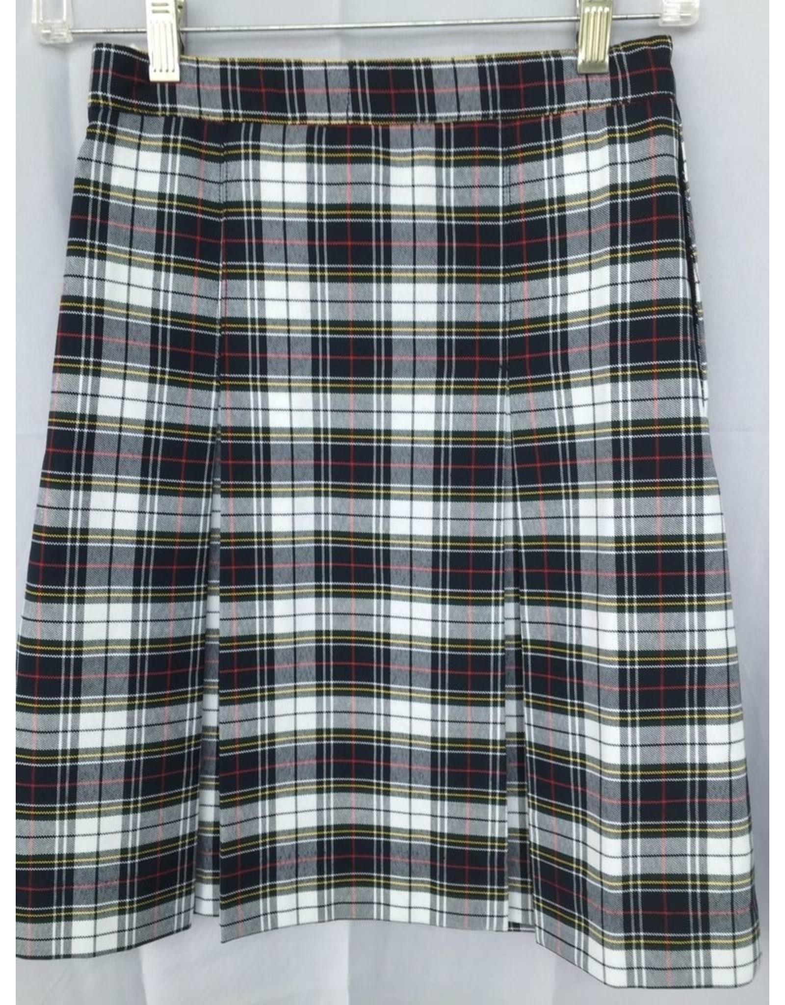 UNIFORM Saint-Vincent-Plaid-Skirt final sale; no refund