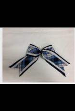 UNIFORM Barrette -  Plaid 3-layered Cheer Bow, SA, Plaid