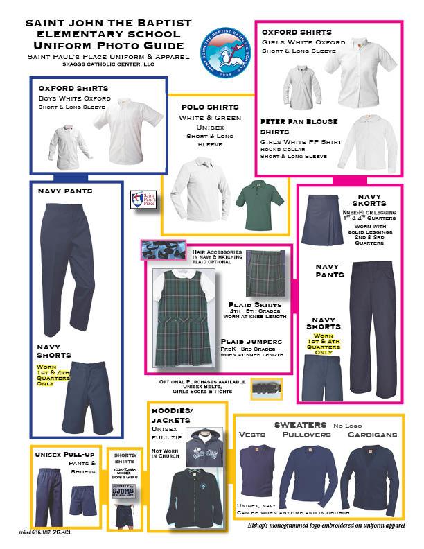 Saint John the Baptist Elementary Uniform Guidelines