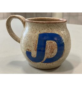 NON-UNIFORM JD Handcrafted Ceramic Mug - Made by JD's Art Teacher, Jenni Eames