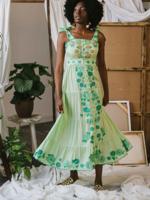 CELIA B CANELA DRESS GREEN