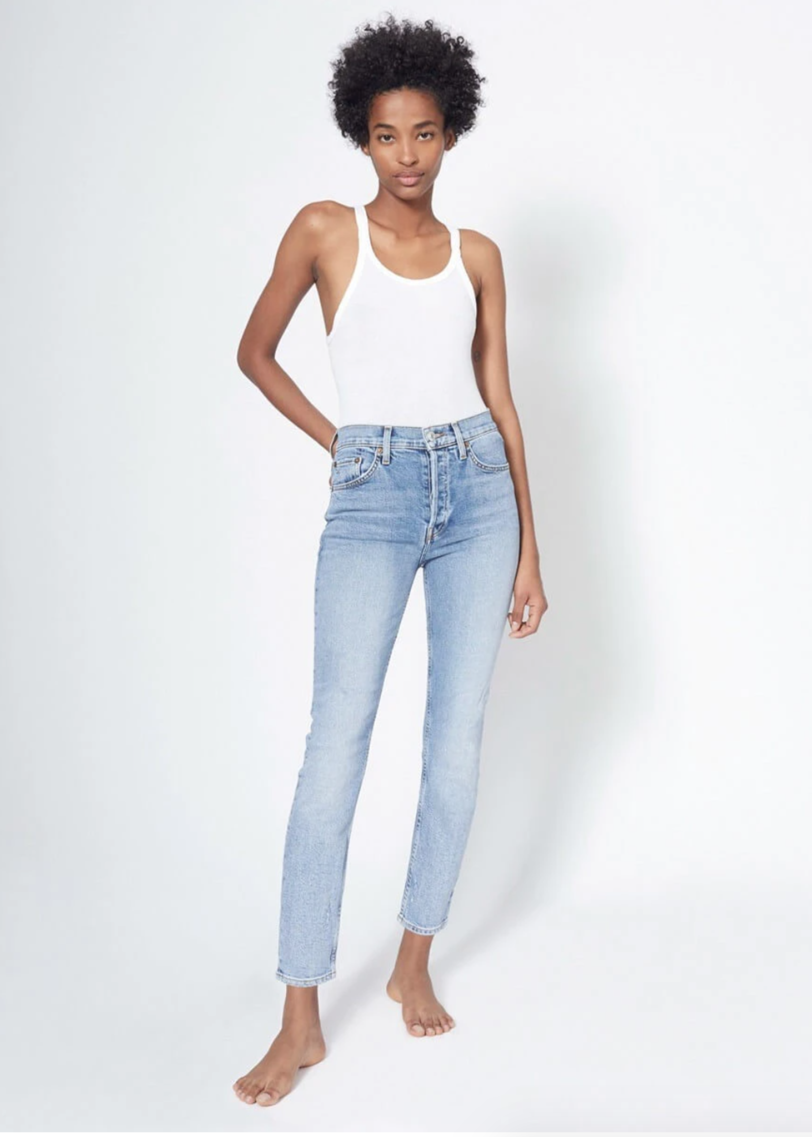 RE/DONE 90'S HIGH RISE ANKLE CROP 3/21