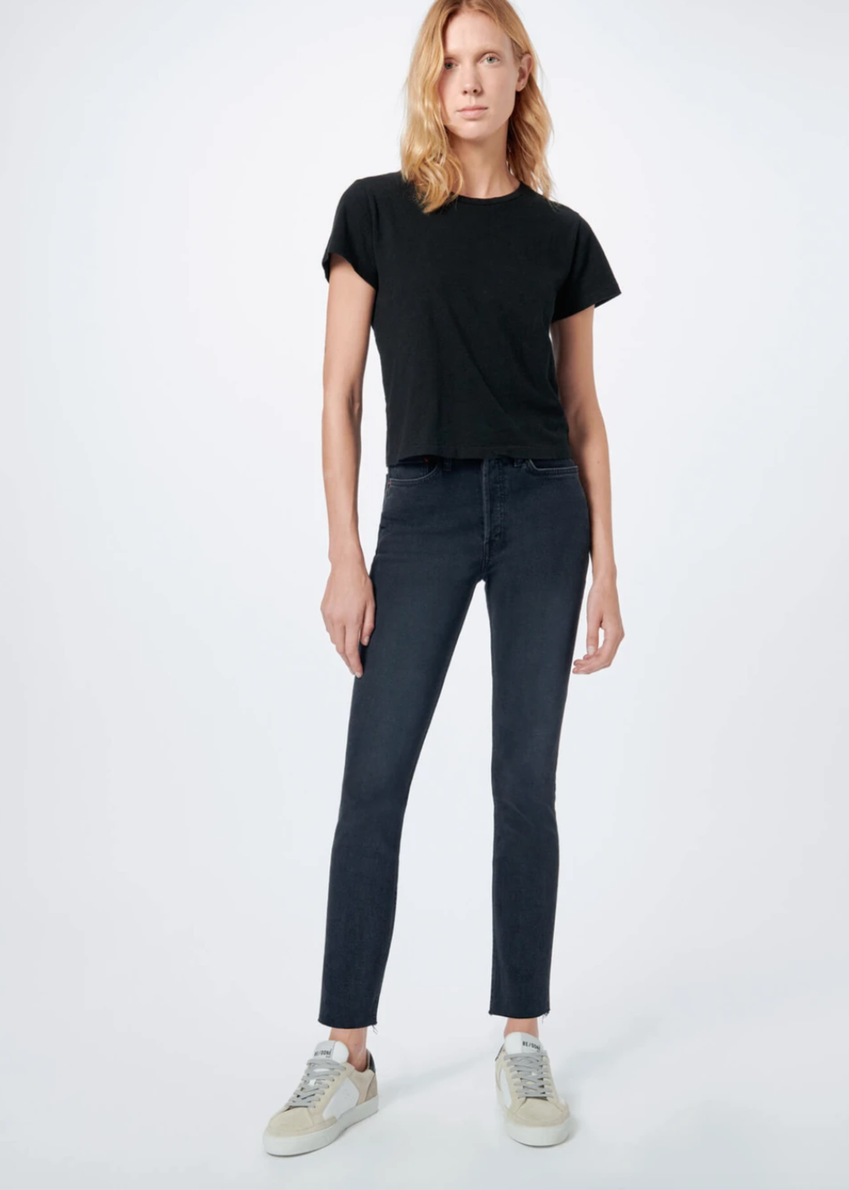 RE/DONE 90S HIGH RSE ANKLE CROP FADED BLACK 4/21