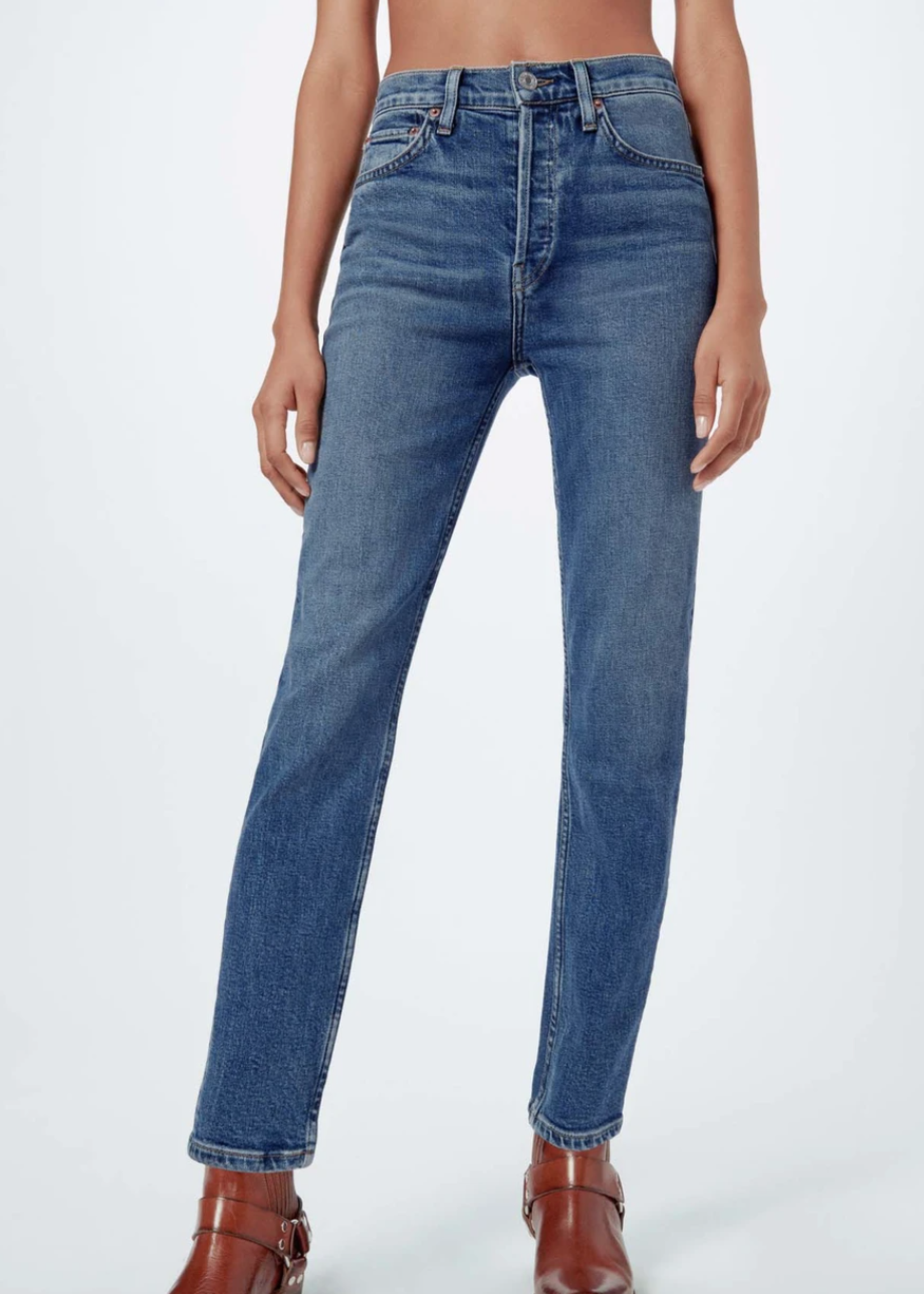 RE/DONE MID 70S 90'S HIGH RISE CROP JEAN 5/21