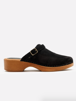 RE/DONE 70S CLOG BLACK SUEDE