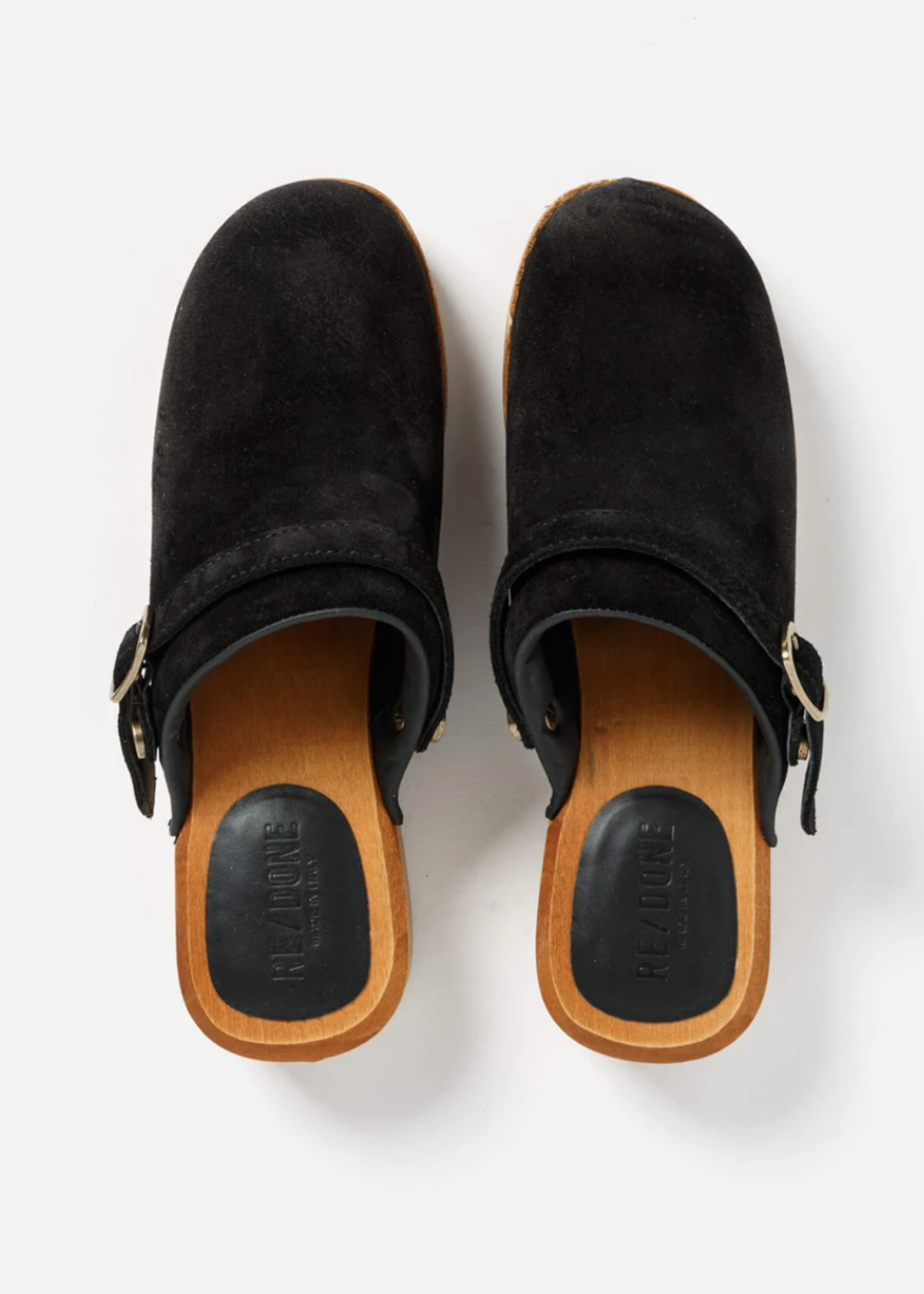 RE/DONE 70S CLOG BLACK SUEDE 5/21