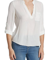 L'AGENCE CHELSEA BLOUSE IVORY