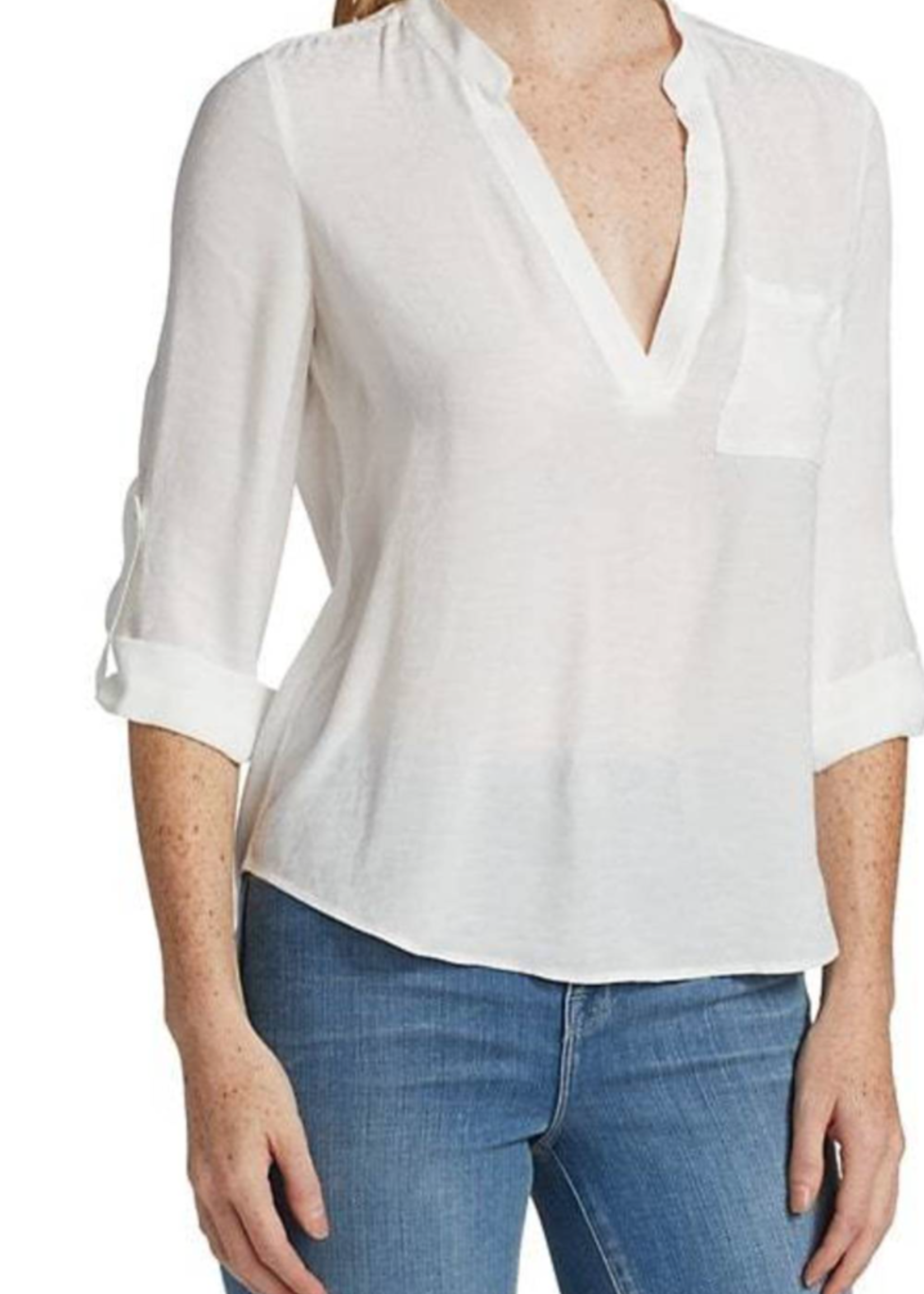 L'AGENCE CHELSEA BLOUSE IVORY 5/21