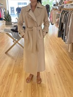 HARRIS AND WHARF LONG TRENCH PRESSED WOOL COAT