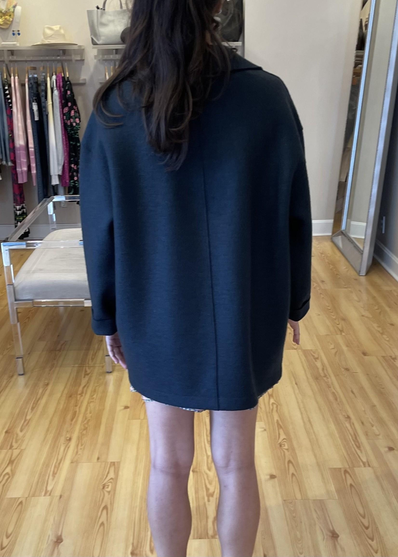 Womens dropped shoulder D B jacket pressed wool