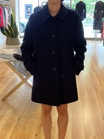HARRIS AND WHARF LODEN PRESSED WOOL COAT