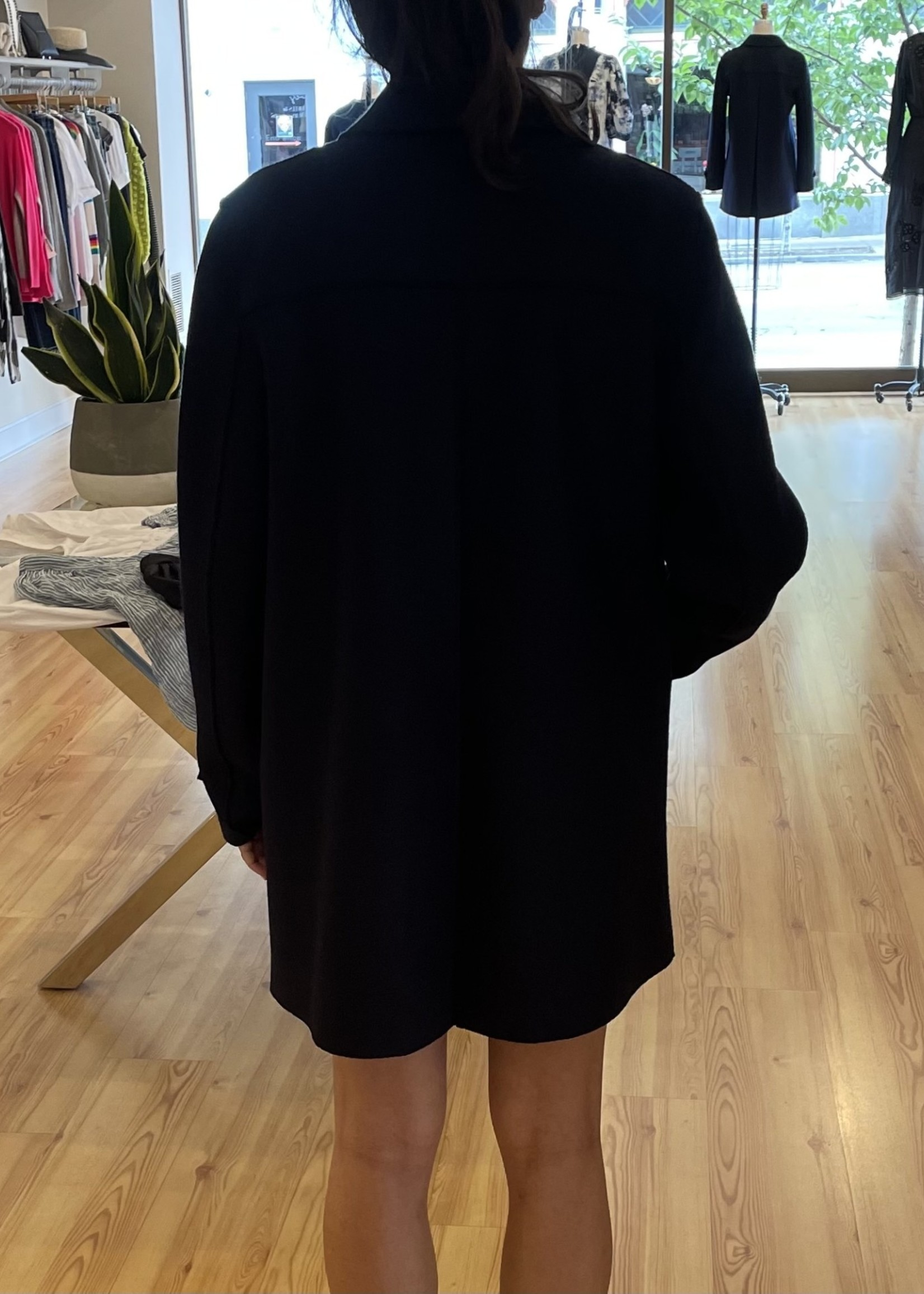HARRIS AND WHARF LODEN PRESSED WOOL COAT 7/21